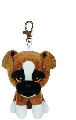 Ty Beanie Boo Baby Glubschi Clip Hund Boxer Plüsch Schlüsselanhänger 7136636
