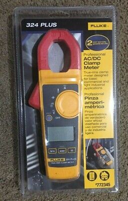 New Sealed Fluke 324 Plus Professional True Rms Acdc Clamp Meter - Free Ship