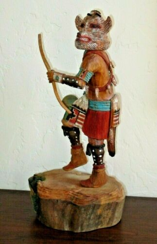 """Hopi Wolf Kachina by KEITH TORRES, 14"""" Tall - Native American Master Carver"""