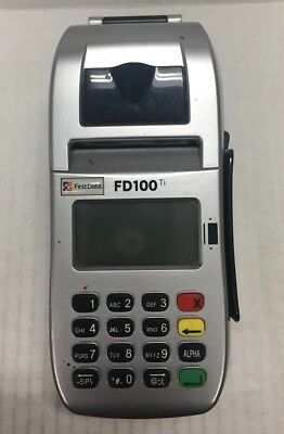 First Data Fd100ti Fd-35 Credit Card Terminal Reader Pos Set Pin Pad