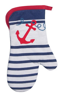 (Kay Dee Designs ANCHORS AWAY Cotton Oven Mitt )