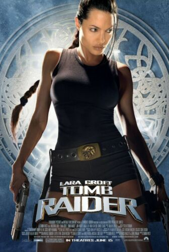 LARA CROFT: TOMB RAIDER (2001) ORIGINAL MOVIE POSTER  -  ROLLED  -  DOUBLE-SIDED