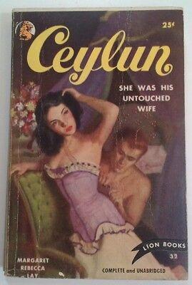 CEYLUN Pulp Fiction VTG 1950 RARE VHTF Lion Books M.R. Lay VG PB
