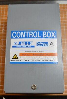 Fw Submersible Pump Motor Control Box 1hp 230v 9.8a 022878