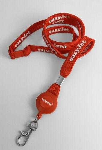 Easyjet Logo Tubular Lanyard Set
