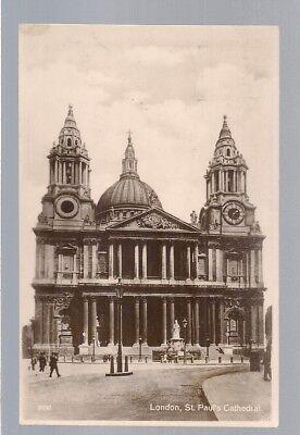 ST. PAUL'S CATHEDRAL, LONDON used vintage postcard  1927 postmark