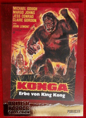 BRITISH HORROR COLLECTION - PAUL STOCKMAN - KONGA! - FOIL Card F11