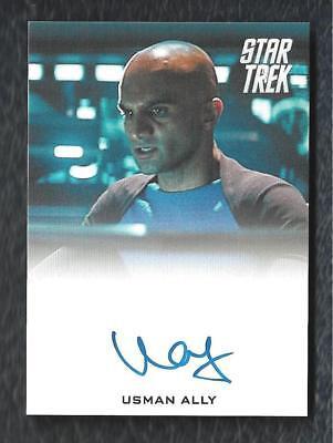 2014 Star Trek Movies Autograph Usman Ally As U S S  Vengeance Bridge Officer