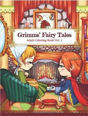 Grimm Fairy Tales Kawaii Fantasy Adult Colouring Book Cinderella Japanese Anime