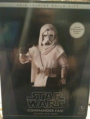 Star Wars Gentle Giant Commander Faie Mini Bust 2015 Premier Guild 276/640