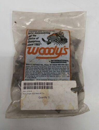 woodys backers awl-2700-b alum single stud mate 48 pcs