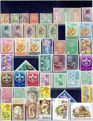 MALDIVE ISLANDS 1909 - 1981 Collection (182) CV $80+