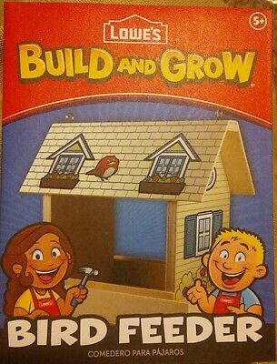 Lowes Build and Grow Bird Feeder Wood Kit With Patch!