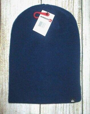 MENS QUIKSILVER BLUE RED REVERSIBLE BEANIE HAT CAP ONE SIZE Quiksilver Reversible Hat