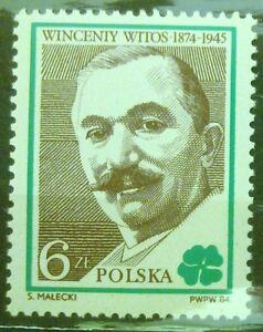 POLAND-STAMPS MNH Fi2757 SC2609 Mi2905 - Wincenty Witos, 1984, clean - <span itemprop=availableAtOrFrom>Reda, Polska</span> - POLAND-STAMPS MNH Fi2757 SC2609 Mi2905 - Wincenty Witos, 1984, clean - Reda, Polska