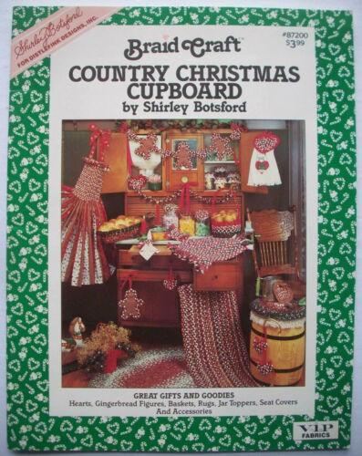 Braid Craft Country Chistmas Cupboard Pattern Book Botsford Garland basket rug