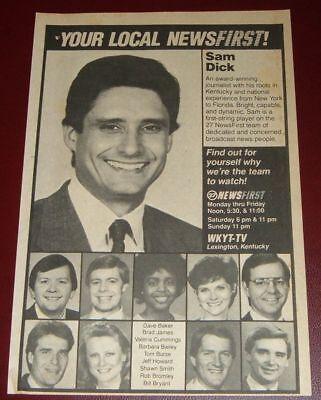 1987 Wkyt Kentucky News Ad Sam Dick Valeria Cummings Tom Burse Shawn Smith