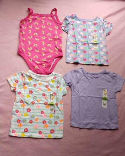 4 Piece Lot Of  Baby Girl Spring Summer Clothes Size 18 Mo Ropers Shirts