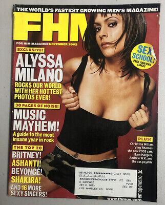FHM Magazine November 2002 Alyssa Milano Christina Milian Ving Rhames Ashanti
