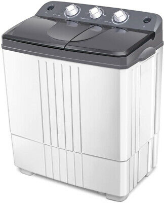 COSTWAY Washing Machine, Twin Tub 20Lbs Capacity, Washer and
