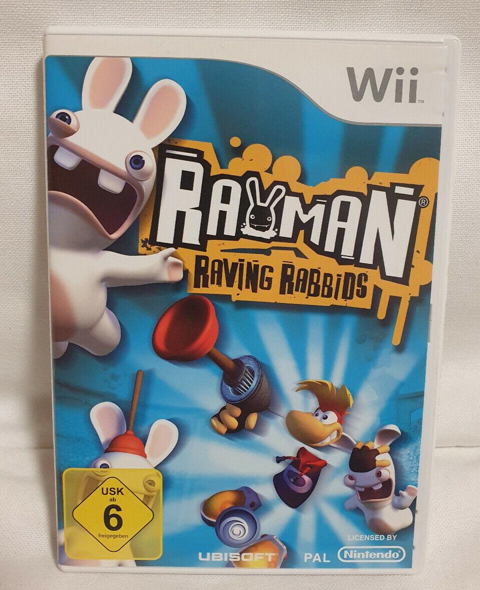 Rayman Raving Rabbids Nintendo Wii mit Spielanleitung und Hülle, Kinderspiel