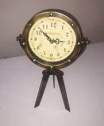 Ashton Sutton CX1611 Metal Standing Table Tripod Clock