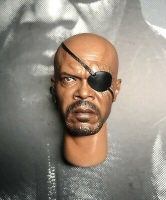 Hot Toys MMS169 The Avengers Captain America Nick Fury 1/6 Nick Fury Head