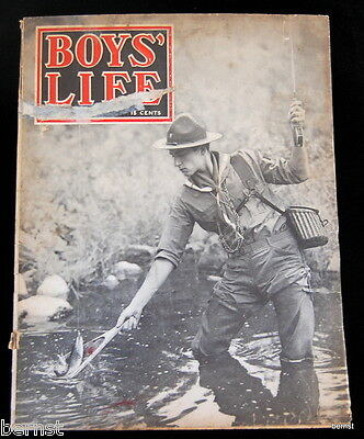VINTAGE BOY SCOUT- 1941 BOYS' LIFE - APRIL