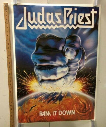 "VINTAGE MUSIC POSTER Judas Priest ""Ram It Down"" Classic Heavy Metal Rock"