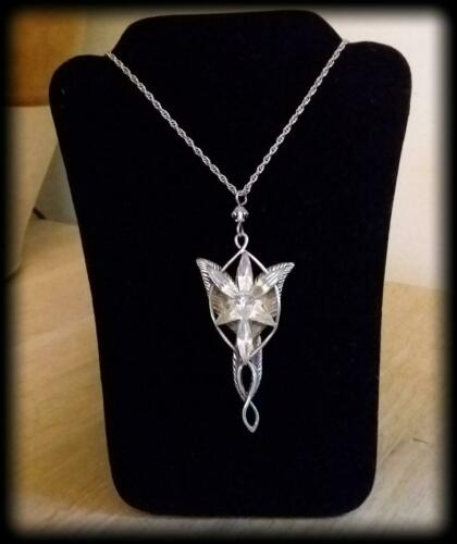Sterling Silver Arwen Evenstar Pendant / Necklace - Marked - Pre-owned - LOTR