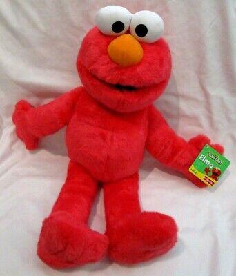 "Sesame Street Let's Cuddle Elmo 24"" Large Soft Plush Animal Pillow Pal-New!"