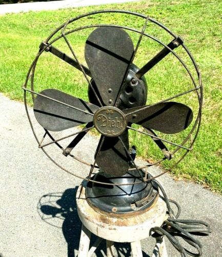 Vintage Diehl 3 Speed 12 Inch Oscillating Fan