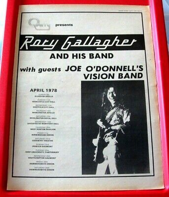 Rory Gallagher UK Tour Vintage ORIG 1978 Press/Magazine ADVERT Poster-Size