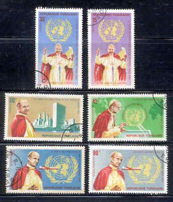 TOGO 6 Stamps Set Pope Paul VI #549-552 C49-C50 Used