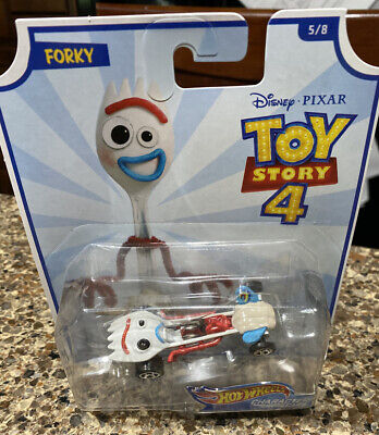 Mattel Hot Wheels Character Cars Disney Toy Story 4 Forky Die Cast New!