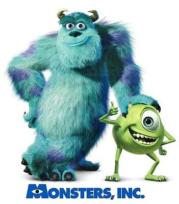 Monsters Inc #3 Mike Sulley T shirt Iron on Transfer 8x10- 5x6 -3x3 light fabric](Sulley X Mike)