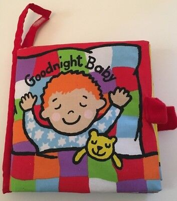"Used, Little Jellycat ""Goodnight Baby"" Cloth Fabric Interactive Book Anne Wilkinson for sale  Shipping to India"