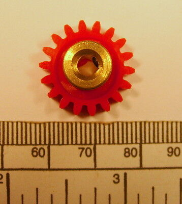 Gear   Brass Hub 4Mm Bore 18 Teeth   With Grub Screw