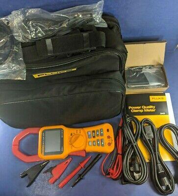 New Fluke 345 Pq Power Quality Analyzer 600v 2000a Ac Dc Watt Clamp Meter