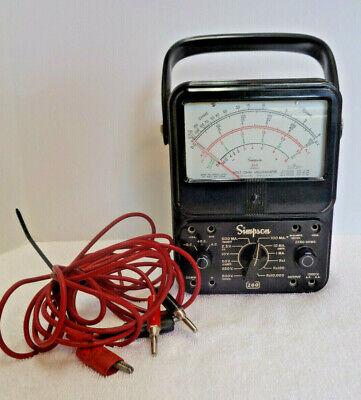 Vtg. Simpson 260 Volt Ohm Milliammeter Analog Multimer Usa Works