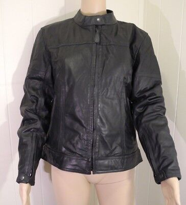 River Road Buffalo Leather Motorcycle Riding Jacket Cafe Racer Thinsulate Medium for sale  Shipping to India