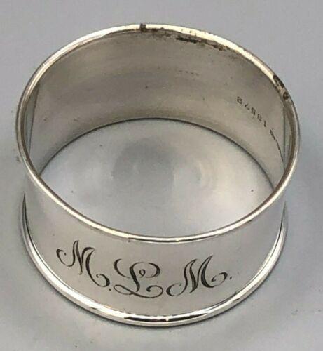 Gorham Sterling Silver Round Napkin Ring, plain, #13572, mono MLM