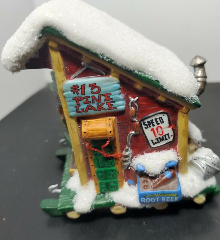 Dept 56 Simple Traditions Pine Isles Weekend Retreat Ice House Box Retired Rare