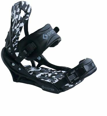 New 2017 System APX Men's Snowboard Bindings Size Large (fits 6-14)