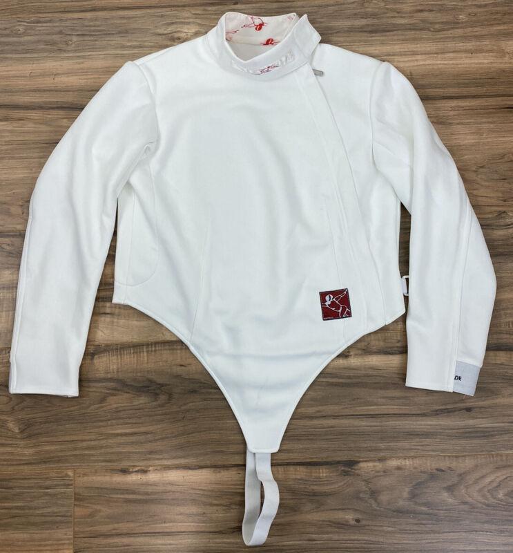 "Men Blade Superior Apparel white athletic fencing jacket uniform, 40"" chest"