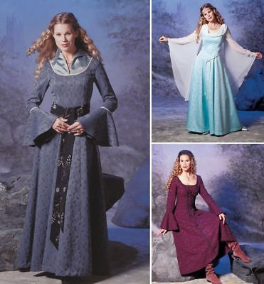 OOP Simplicity 9891 Costumes for Adults Renaissance Medieval Dress Pattern 6-20 - Patterns For Renaissance Costumes