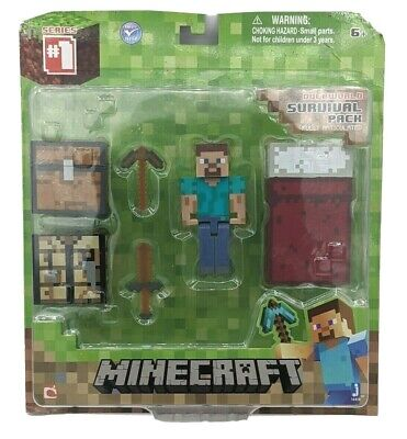 Minecraft Overworld Survival Pack 1 Steve action figure New in Box