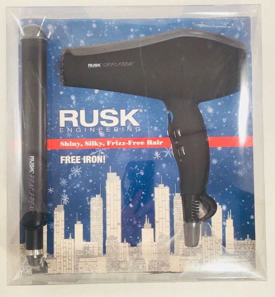"RUSK HEAT FREAK HAIR BLOW DRYER 1"" STR8 STRAIGHTENER FLAT IR"