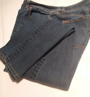APT 9 ESSENTIALS WOMEN'S SLIM CAPRI PANTS MEDIUM BLUE STRETCH DENIM SIZE 12