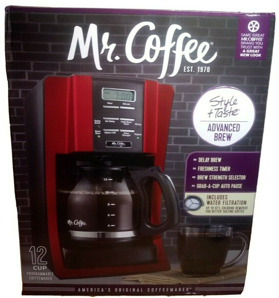 Mr. Coffee SKX23 12-Cup Programmable Coffeemaker, Black